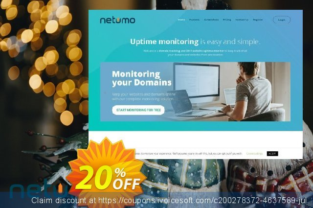 Netumo Plus Monthly discount 10% OFF, 2020 Back to School coupons offering discount