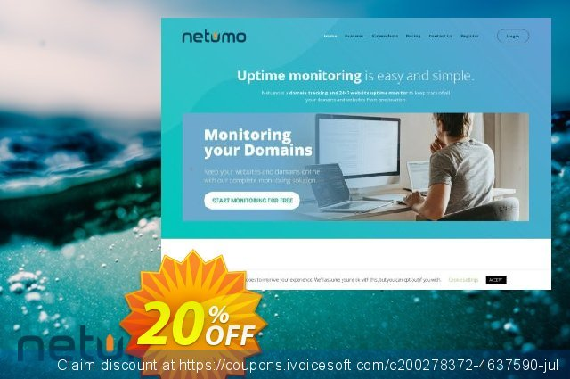 Netumo Lite Yearly discount 10% OFF, 2020 Back to School season offering sales