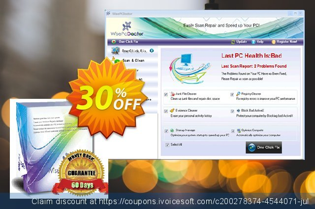 Wise PC Doctor (3 PC/3 Years) discount 30% OFF, 2020 Back to School promo offering sales