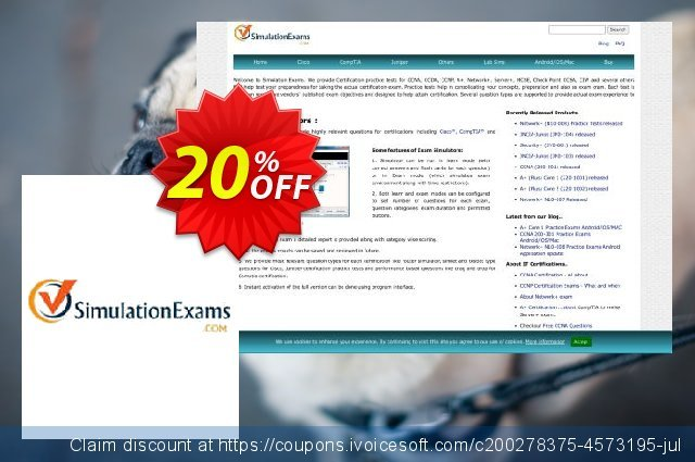 SimulationExams Security+ Practice Tests discount 20% OFF, 2021 Magic Day offering sales. SE: Security+ Practice Tests Big deals code 2021
