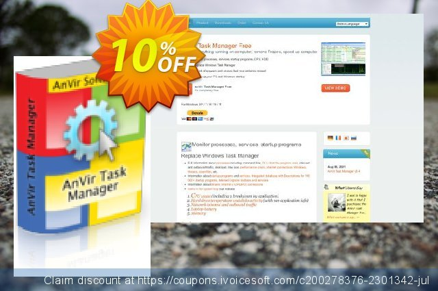 AnVir Task Manager discount 10% OFF, 2020 4th of July discounts