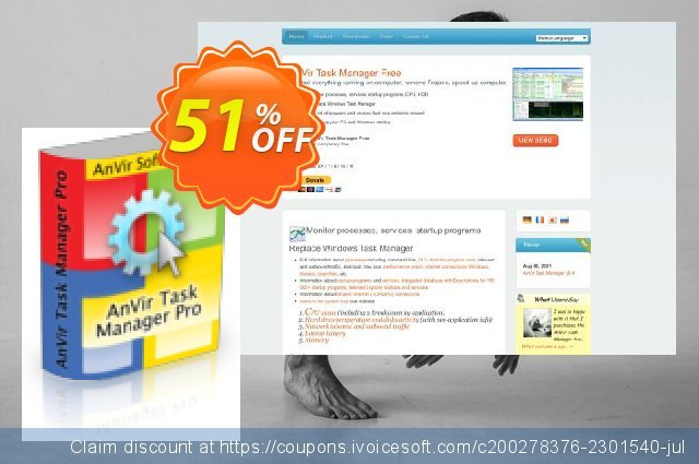 AnVir Task Manager Pro discount 10% OFF, 2020 American Independence Day offering deals