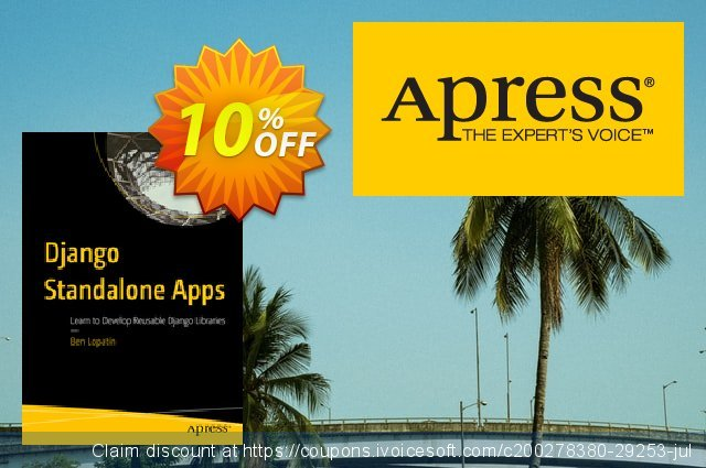 Django Standalone Apps (Lopatin) discount 10% OFF, 2020 Back to School promotion offer