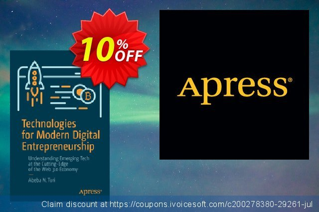 Technologies for Modern Digital Entrepreneurship (Turi) discount 10% OFF, 2020 Back to School season offering sales