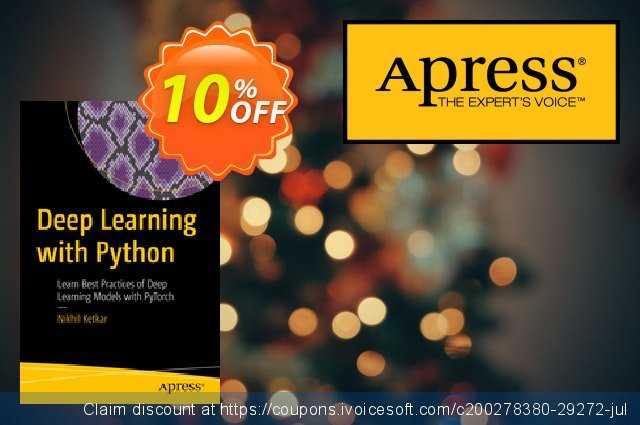 Deep Learning with Python (Ketkar) discount 10% OFF, 2020 College Student deals offer