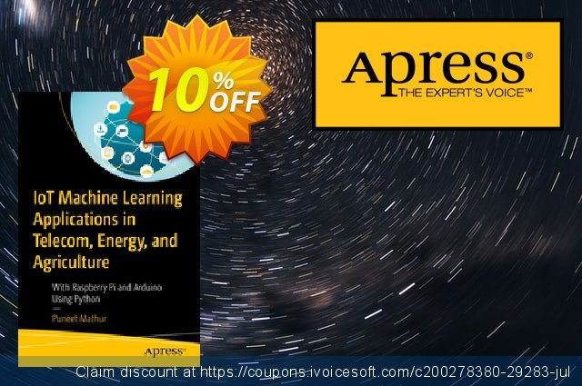 IoT Machine Learning Applications in Telecom, Energy, and Agriculture (Mathur) discount 10% OFF, 2020 Exclusive Student deals offering sales