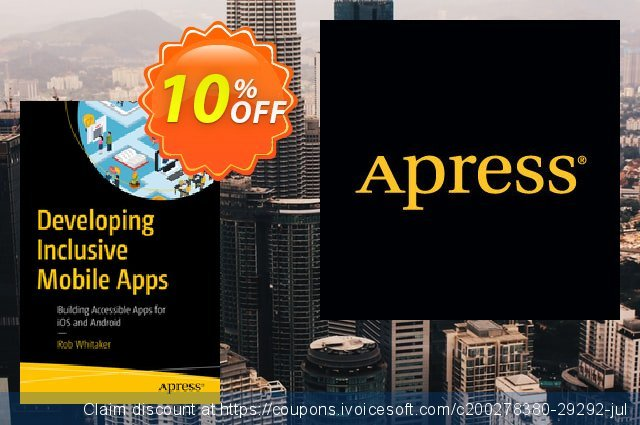 Developing Inclusive Mobile Apps (Whitaker) discount 10% OFF, 2020 College Student deals discount