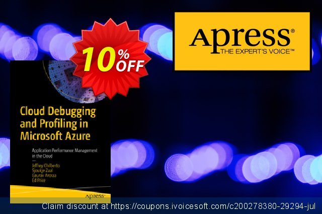 Cloud Debugging and Profiling in Microsoft Azure (Chilberto) discount 10% OFF, 2020 Halloween offering deals