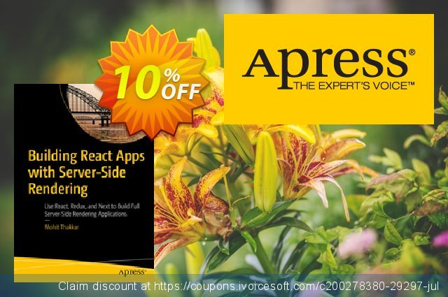 Building React Apps with Server-Side Rendering (Thakkar) discount 10% OFF, 2020 Back to School event promo