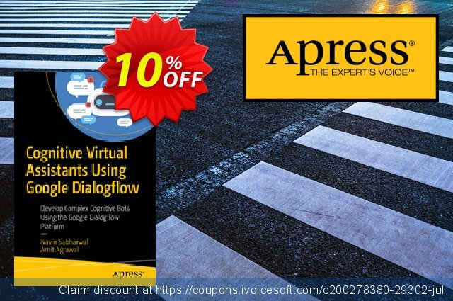 Cognitive Virtual Assistants Using Google Dialogflow (Sabharwal) discount 10% OFF, 2020 Back to School coupons offering sales