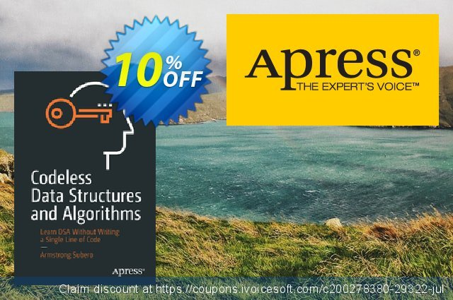Codeless Data Structures and Algorithms (Subero) discount 10% OFF, 2020 Halloween offering sales