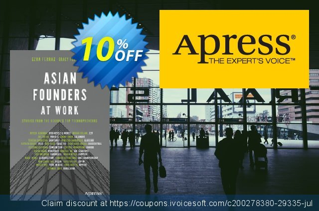 Asian Founders at Work (Ferraz) discount 10% OFF, 2020 College Student deals promo