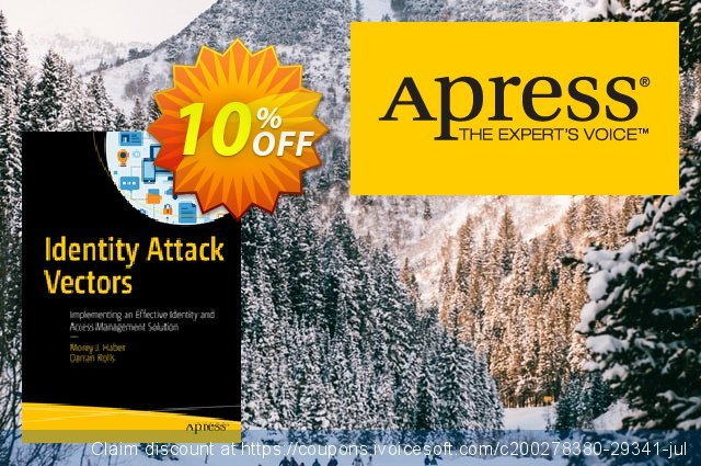 Identity Attack Vectors (Haber) discount 10% OFF, 2020 Back to School deals offering sales