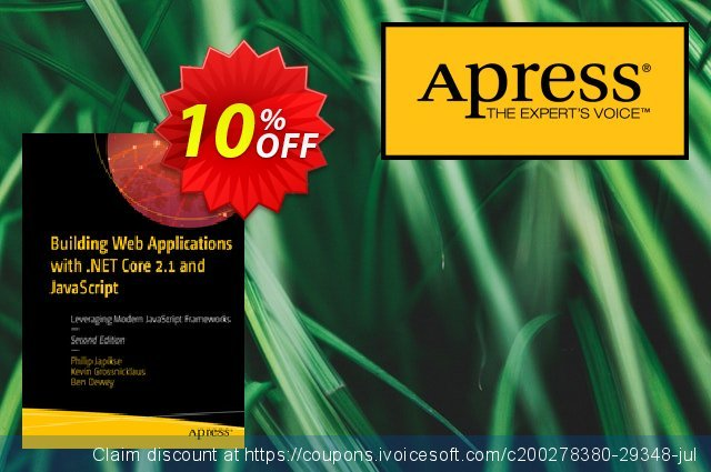 Building Web Applications with .NET Core 2.1 and JavaScript (Japikse) discount 10% OFF, 2020 Halloween discount