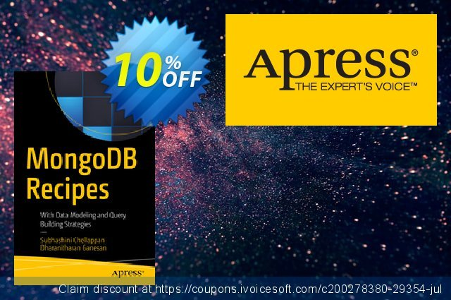 MongoDB Recipes (Chellappan) discount 10% OFF, 2020 Halloween offering sales