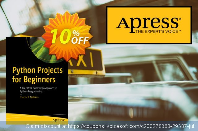 Python Projects for Beginners (Milliken) discount 10% OFF, 2020 Halloween offering discount