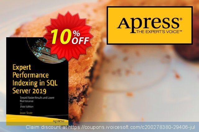 Expert Performance Indexing in SQL Server 2019 (Strate) discount 10% OFF, 2020 Back to School offer discount