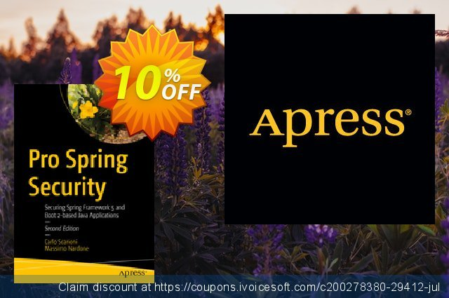 Pro Spring Security (Scarioni) discount 10% OFF, 2020 Exclusive Teacher discount offering sales