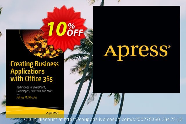Creating Business Applications with Office 365 (Rhodes) discount 10% OFF, 2020 Back to School promo sales