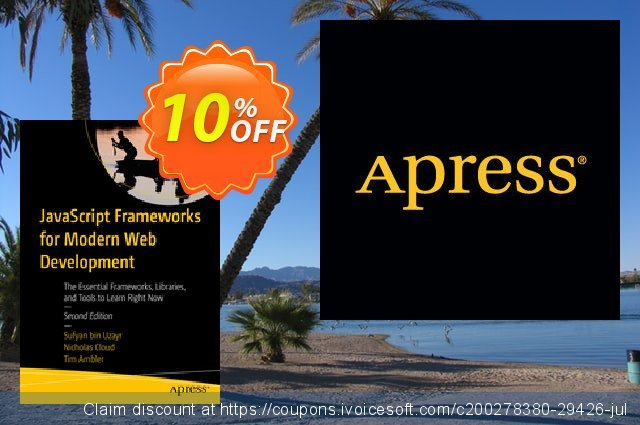 JavaScript Frameworks for Modern Web Development (bin Uzayr) discount 10% OFF, 2020 Back to School shopping offering discount
