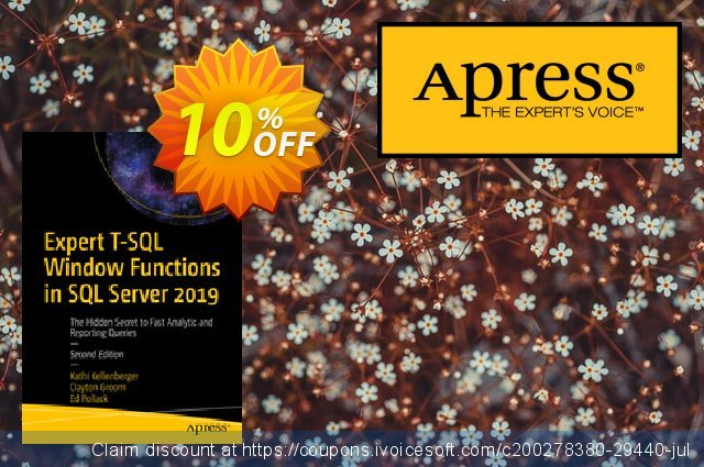 Expert T-SQL Window Functions in SQL Server 2019 (Kellenberger) discount 10% OFF, 2020 College Student deals promotions
