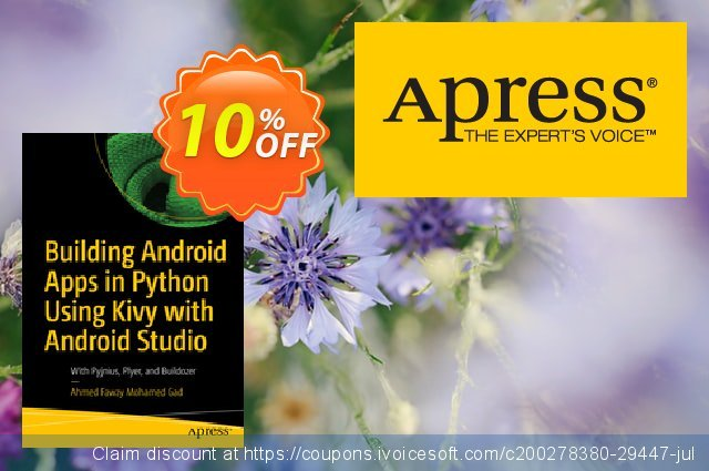 Building Android Apps in Python Using Kivy with Android Studio (Gad) discount 10% OFF, 2020 Back to School shopping offering deals