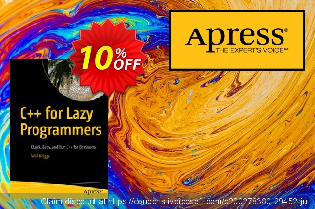 C++ for Lazy Programmers (Briggs) discount 10% OFF, 2020 Halloween offering sales