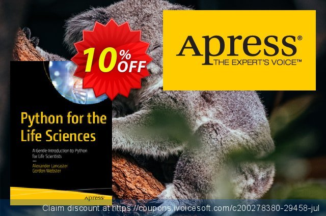 Python for the Life Sciences (Lancaster) discount 10% OFF, 2020 College Student deals discounts