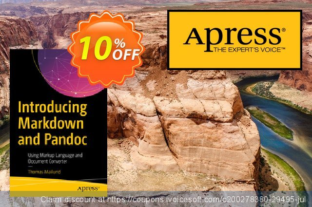 Introducing Markdown and Pandoc (Mailund) discount 10% OFF, 2020 Halloween discounts