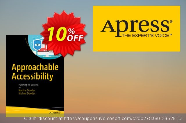 Approachable Accessibility (Dowden) discount 10% OFF, 2020 Halloween offering sales