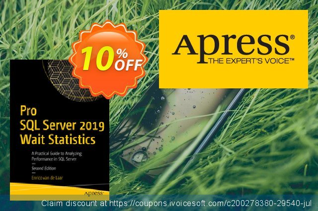 Pro SQL Server 2019 Wait Statistics (van de Laar) discount 10% OFF, 2020 Halloween offering sales