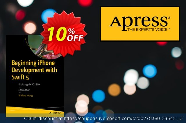 Beginning iPhone Development with Swift 5 (Wang) discount 10% OFF, 2020 Halloween promo sales
