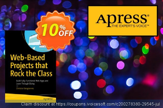 Web-Based Projects that Rock the Class (Karayiannis) discount 10% OFF, 2020 Halloween offering sales
