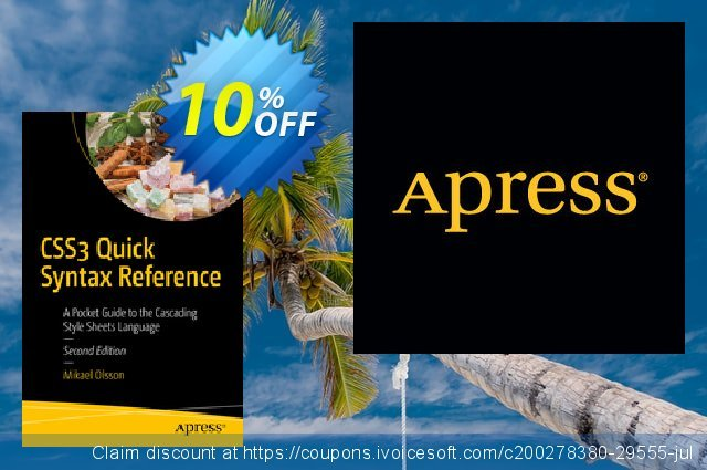 CSS3 Quick Syntax Reference (Olsson) discount 10% OFF, 2020 Halloween deals