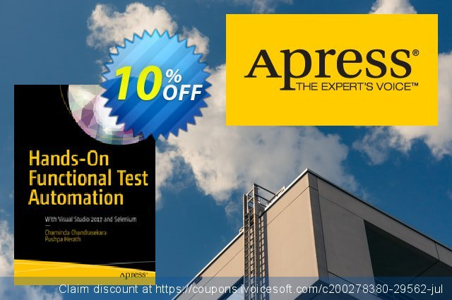 Hands-On Functional Test Automation (Chandrasekara) discount 10% OFF, 2020 Halloween promo