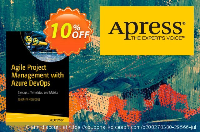 Agile Project Management with Azure DevOps (Rossberg) discount 10% OFF, 2020 Halloween offering sales