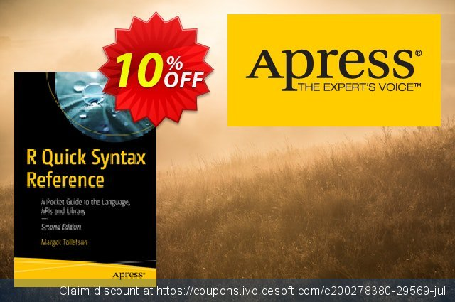 R Quick Syntax Reference (Tollefson) discount 10% OFF, 2020 Halloween offering sales