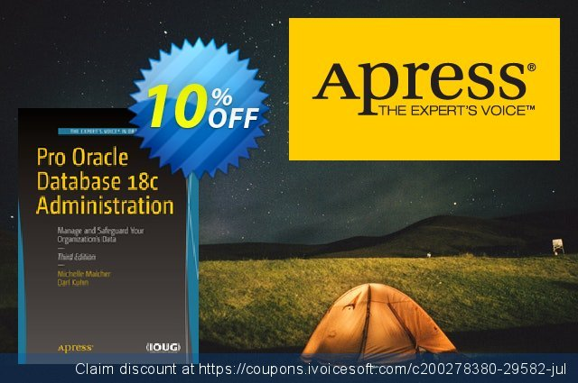 Pro Oracle Database 18c Administration (Malcher) discount 10% OFF, 2020 Halloween offering sales
