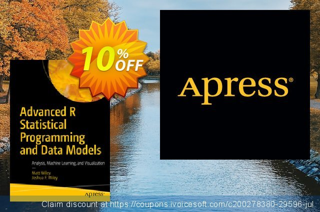Advanced R Statistical Programming and Data Models (Wiley) discount 10% OFF, 2020 Halloween offering discount
