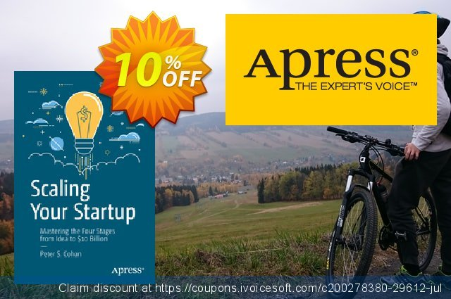 Scaling Your Startup (Cohan) discount 10% OFF, 2020 Halloween deals