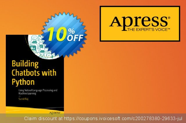 Building Chatbots with Python (Raj) discount 10% OFF, 2020 Halloween discount