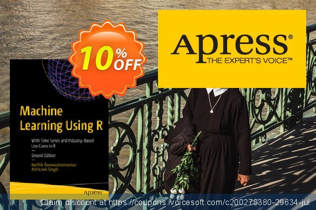 Machine Learning Using R (Ramasubramanian) discount 10% OFF, 2020 Halloween offering discount