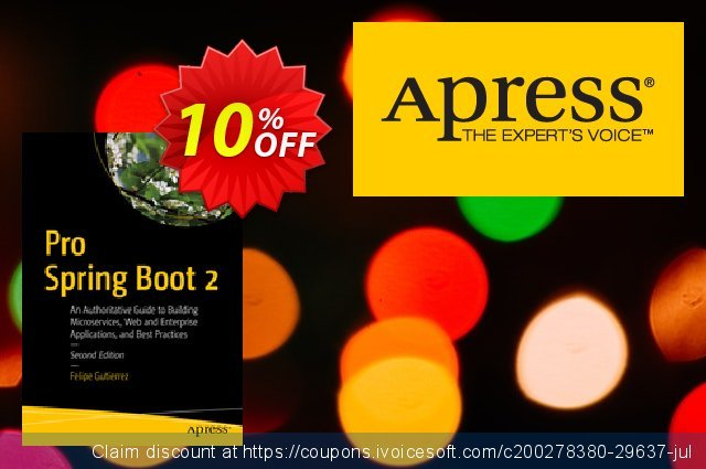 Pro Spring Boot 2 (Gutierrez) discount 10% OFF, 2020 Halloween promo sales