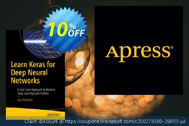 Learn Keras for Deep Neural Networks (Moolayil) discount 10% OFF, 2020 Halloween offering discount