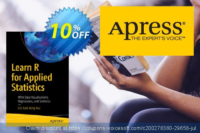 Learn R for Applied Statistics (Ming Hui) discount 10% OFF, 2020 Halloween offering sales