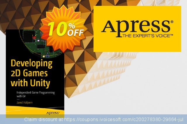 Developing 2D Games with Unity (Halpern) discount 10% OFF, 2020 Halloween offering sales