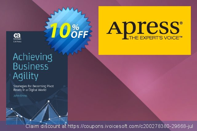 Achieving Business Agility (Orvos) discount 10% OFF, 2020 Halloween sales