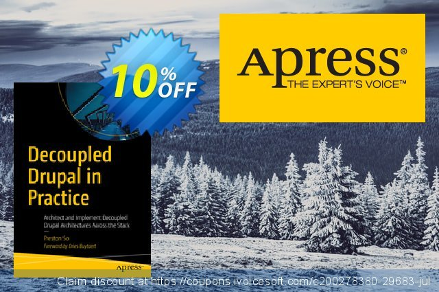 Decoupled Drupal in Practice (So) discount 10% OFF, 2021 National Radio Day offering sales. Decoupled Drupal in Practice (So) Deal