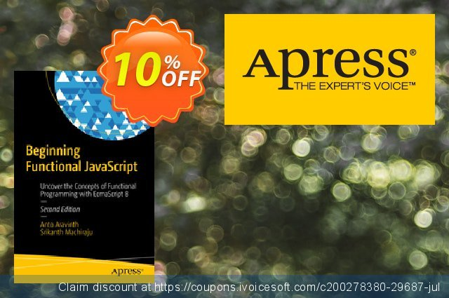 Beginning Functional JavaScript (Aravinth) discount 10% OFF, 2021 Happy New Year offering sales