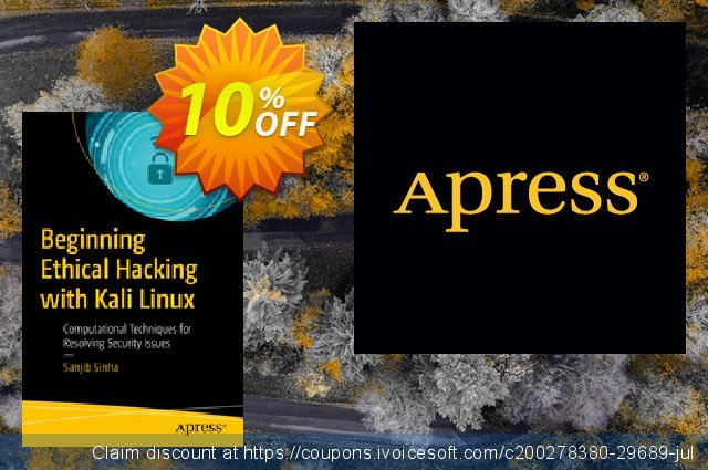 Beginning Ethical Hacking with Kali Linux (Sinha) discount 10% OFF, 2020 Halloween offer